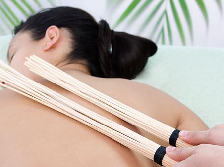 Самурайский массаж бамбуковыми вениками