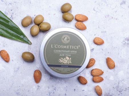Крем для тела сливочный «Питание» с маслом сладкого миндаля и маслом оливы
